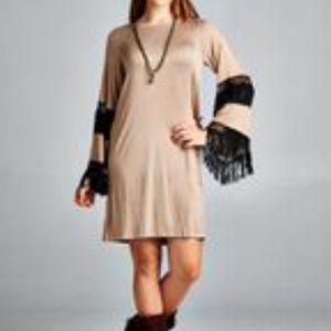 Boho Knit Fringe Dress/Tunic